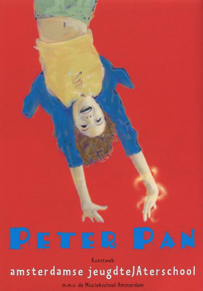 flyer AJTS Peter Pan ontwerp en illustratie flyer A5 en affiche A2