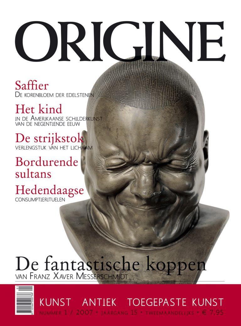 cover Origine, maandblad 2007/2008 ontwerp en art direction hele magazine