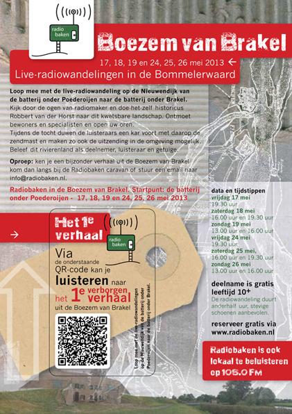 Radiobaken, Ontwerp en uitvoering flyers Radiobaken; 2013